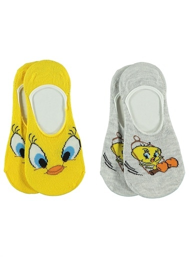 Tweety Tweety Kız Çocuk 2'li Babet Çorap 3-11 Yaş Sarı Tweety Kız Çocuk 2'li Babet Çorap 3-11 Yaş Sarı Sarı